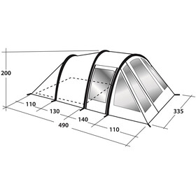 Outwell Up+Away 500 Tent green